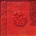 Grande cretto rosso tondo