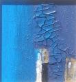 Composizione di cretto azzurro e quarzo
