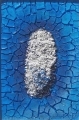 Cretto azzurro e ovale bianco