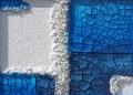 Cretto azzurro e quarzo