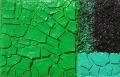 Cretto verde e trucioli neri