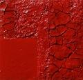 Cretto rosso, sabbia e trucioli