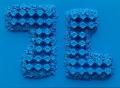 Composizione azzurra
