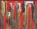 Rosso, legno e trucioli
