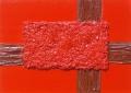 Trucioli e stoffa rossa