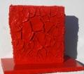 Composizione di cretto rosso e materia, lato a