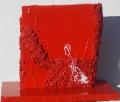 Composizione di cretto rosso e materia, lato b