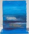Scultura azzurra lato b